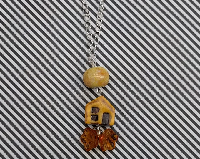 Yellow House Necklace