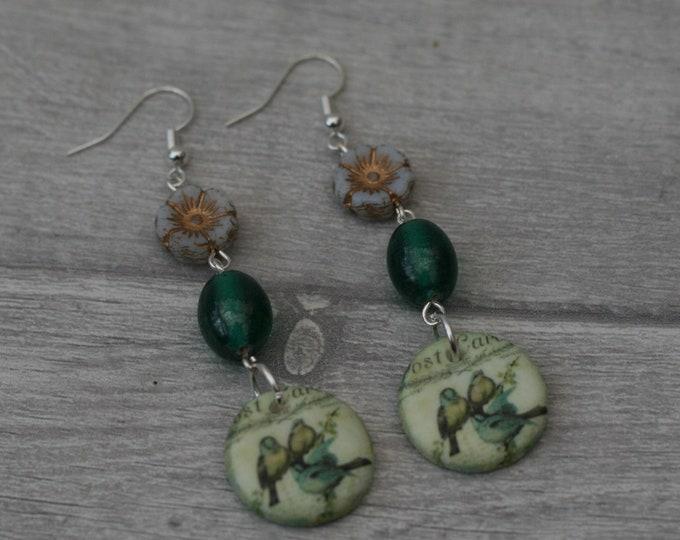 Bird Statement Earrings, Animal Jewelry