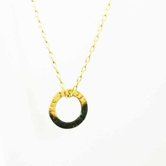 Collar con anillos y círculo patrón-gráfico-moderno-Gold