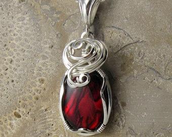 Paua Shell Necklace - Abalone Pendant - Paua Shell Jewelry - Paua Shell Pendant - Abalone Necklace - Abalone Jewellery - Wire Wrapped