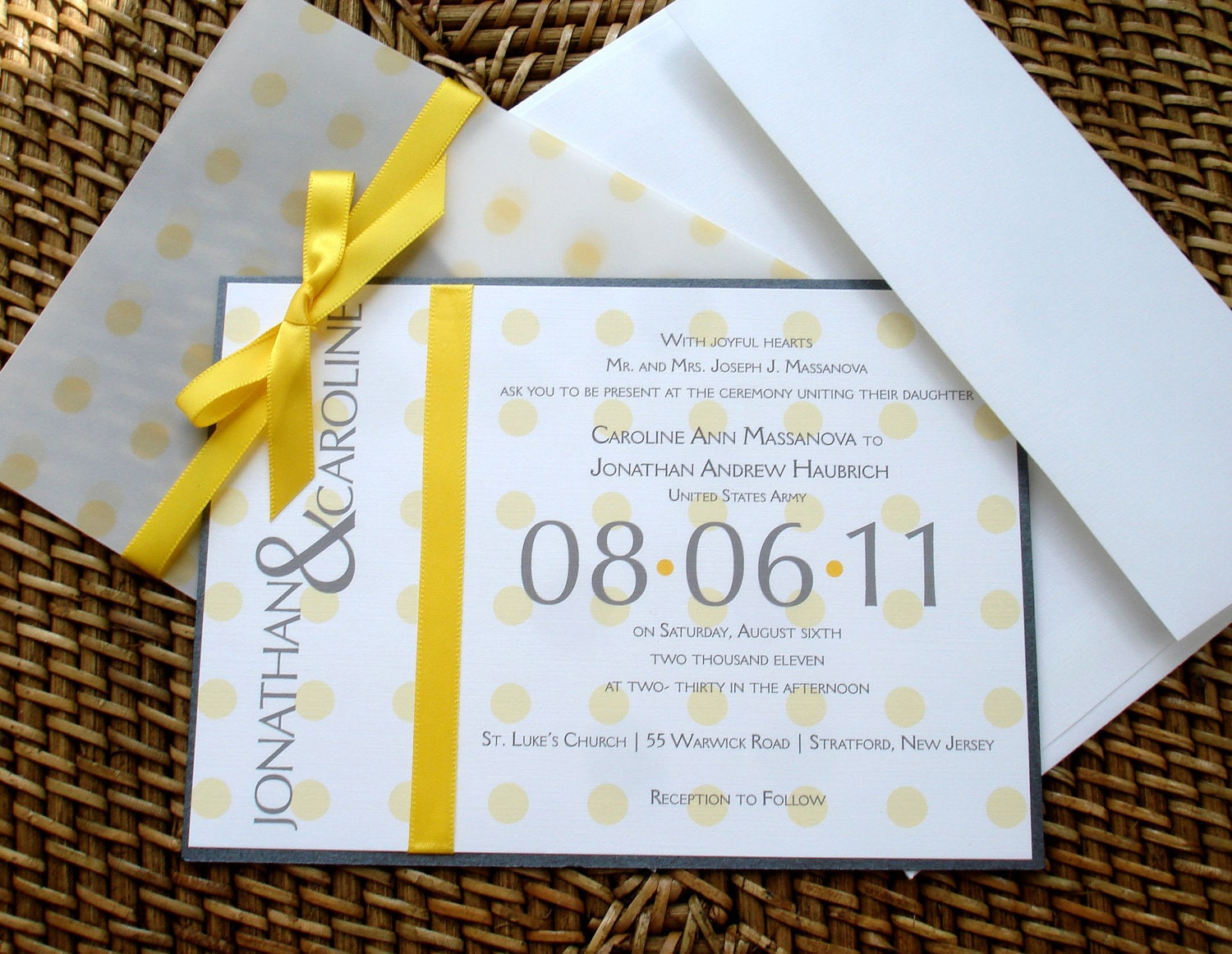 Unique Wedding Invites: Yellow Wedding Invitation Unique Wedding Invitations Fun