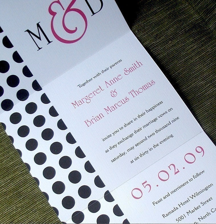 When Do You Send Invitations For A Wedding: Modern Wedding Invitation Hot Pink Invitation Seal And