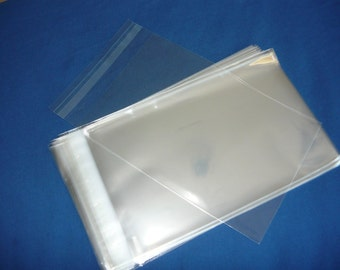 """1000 Clear Cellophane Cello Greeting Cards Bags 7.25/"""" x 9/"""""""
