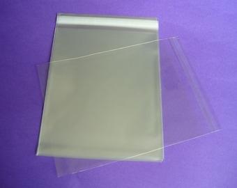 100 9 x 12 Clear Resealable Cello Bag Plastic Envelopes Cellophane Bag Sleeves