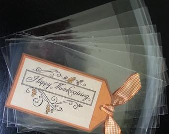 200 A1 - 3.8 x 5.2 Clear Resealable Cello Bag Plastic Envelopes Cellophane Bag Sleeves