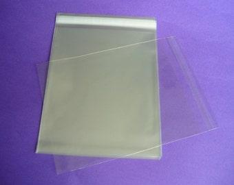 50 11.4 x 14.3 Clear Resealable Cello Bag Plastic Envelopes Cellophane Bag