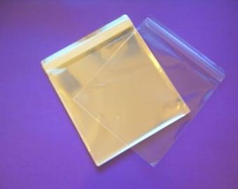 100 12.5 x 12.5 Clear Resealable Cello Bag Plastic Envelopes Cellophane Bag Scrapbook