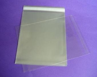 100 5 x 7 Clear Resealable Cello Bag Plastic Envelopes Cellophane Bag Sleeves