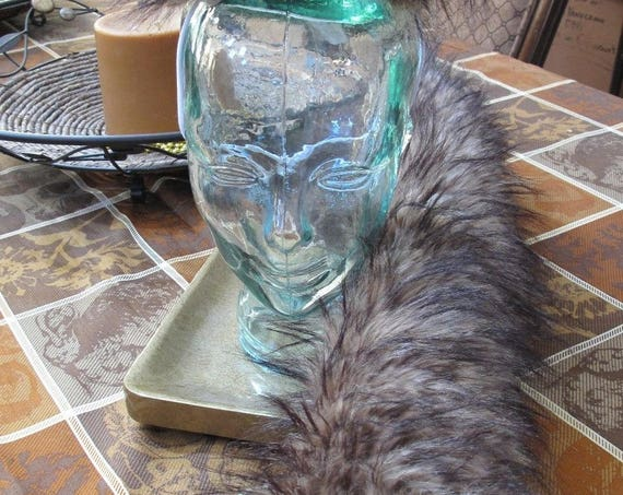 Frosted Beige Luxury wolf shag spiked faux fur ears tails & sets