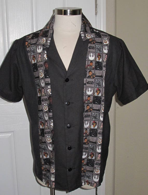Rebel Alliance Men's bowling shirt in 10 sizes