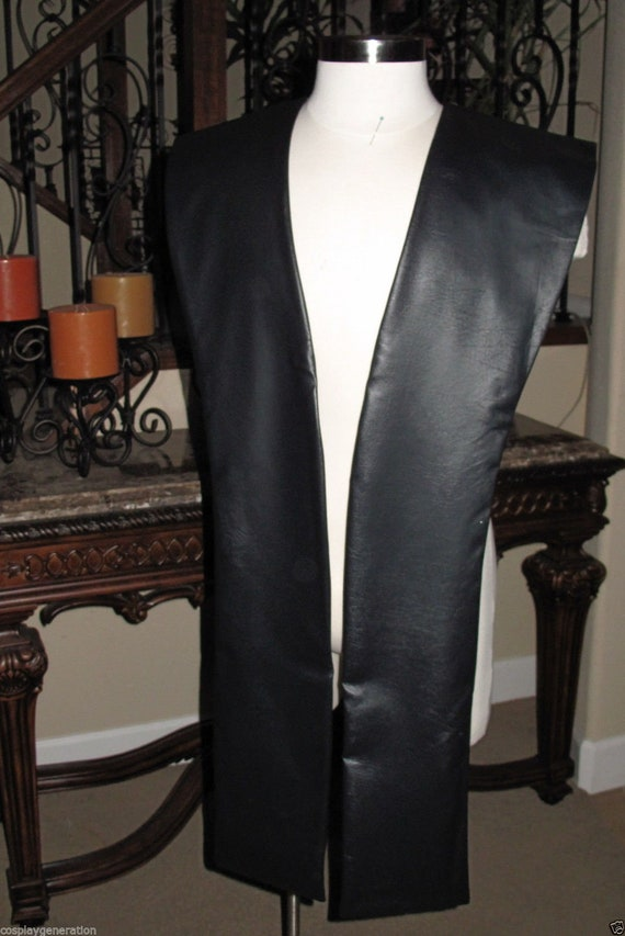 Black pleather tabards in 10 sizes