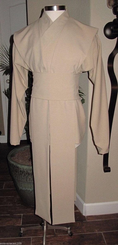 Cosplay undertunic beige shirt with tabards & sash, 4 piece costume