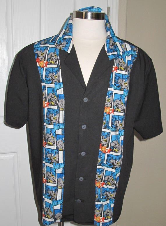 Batman Men's bowling shirt in 10 sizes