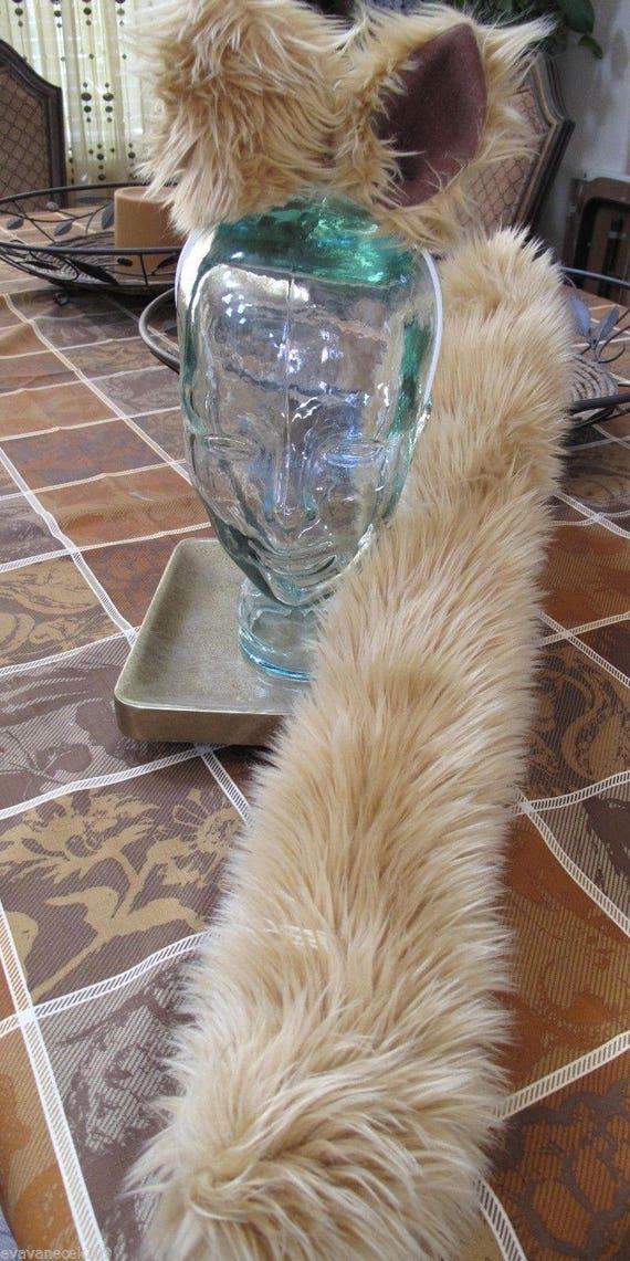 Mog the Dog Spaceballs dark camel color luxury shag faux fur ears tails & sets