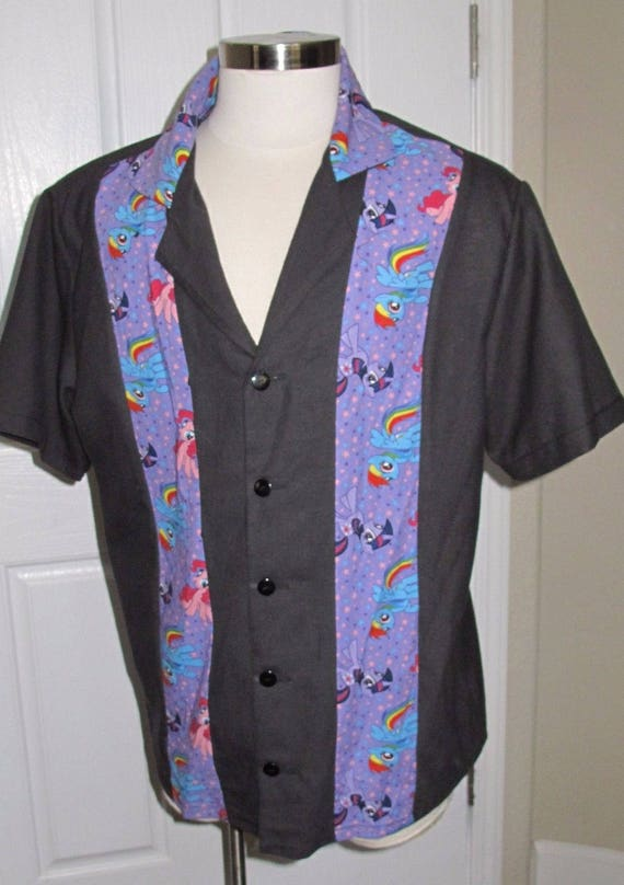 My Little Pony Men's bowling shirt in 10 sizes