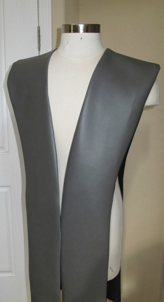 Charcoal Gray pleather tabards in 10 sizes