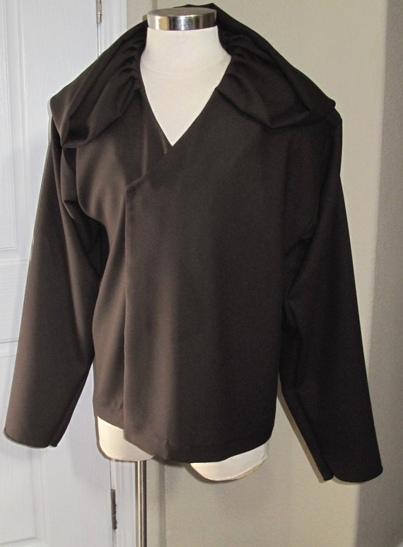 Cosplay Dark Brown under tunic costume shirt with a deep hood