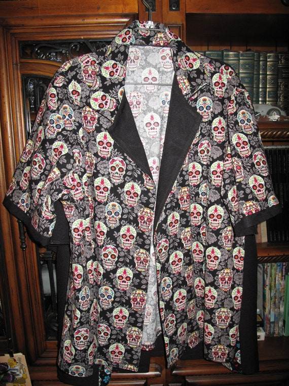 Day Of the Dead,Dia de los Muertos,Guayabera Decorative Skulls style Men's shirt