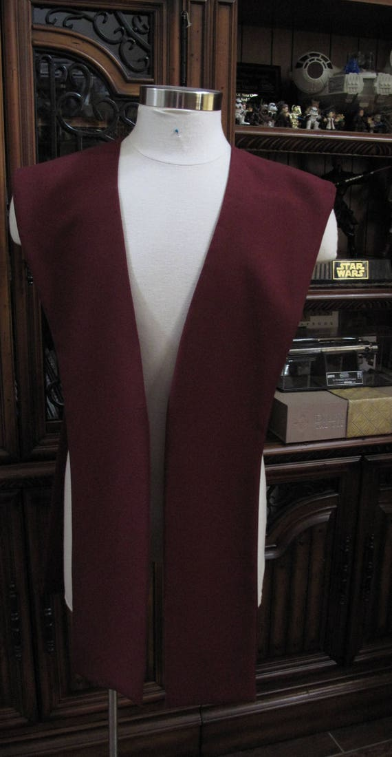 Burgundy poplin fabric tabards no sash in 10 sizes