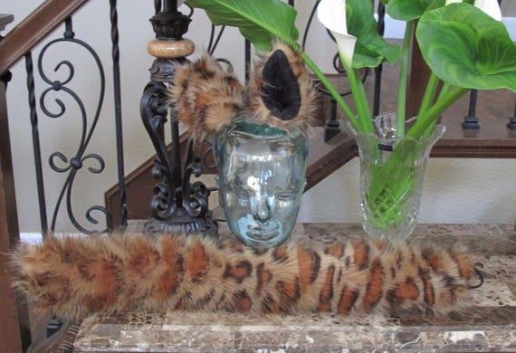 Snow Leopard luxury shag faux fur ears tails & sets 2 sizes