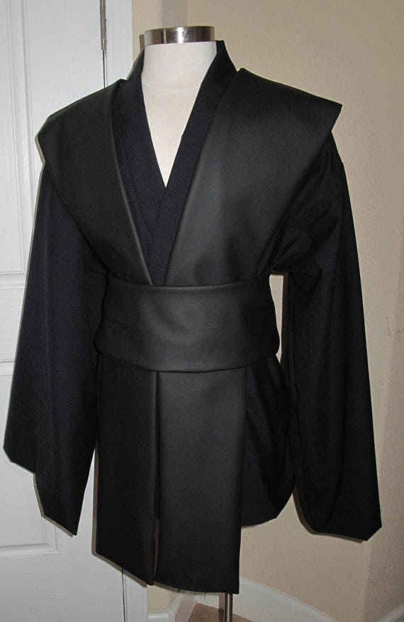 Black pleather tabards and sash in several sizes