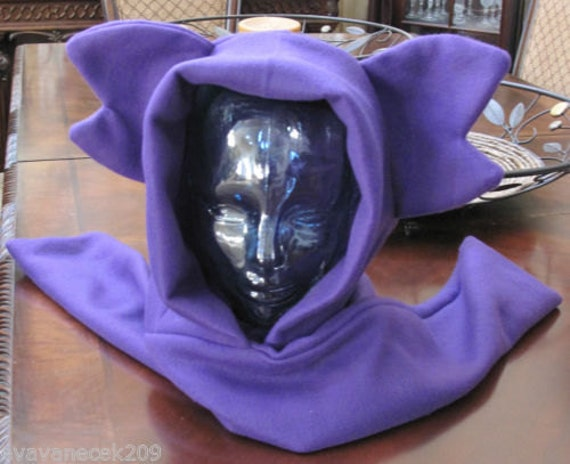 Cosplay Sableye fleece scarf hoodie ear hat