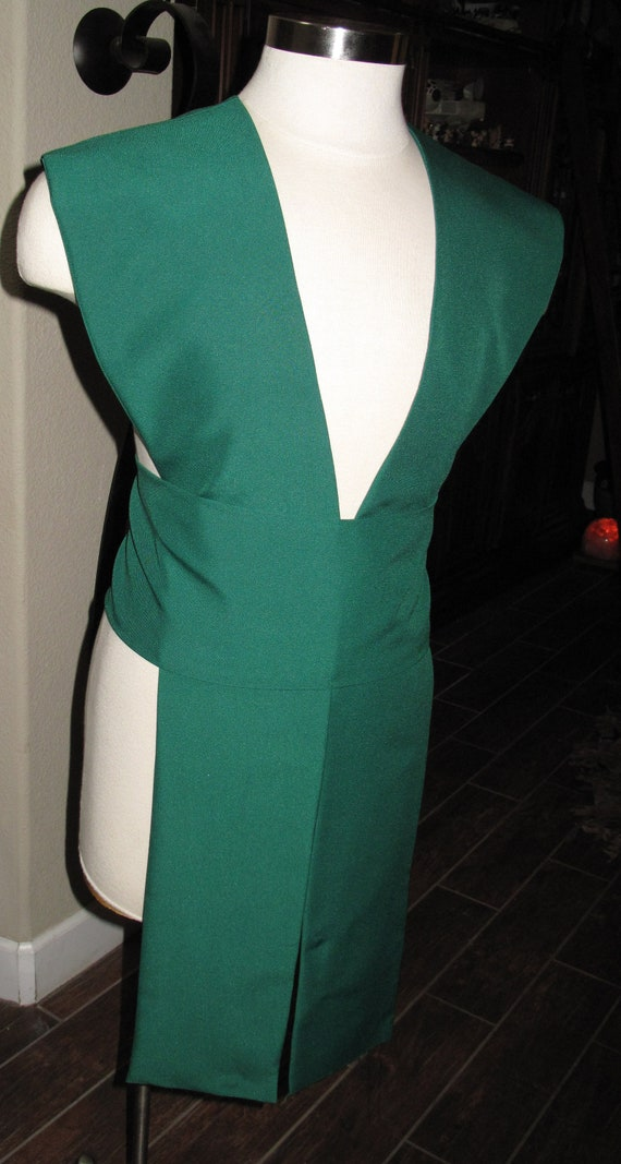 Dark Green poplin fabric tabards with sash in several sizes