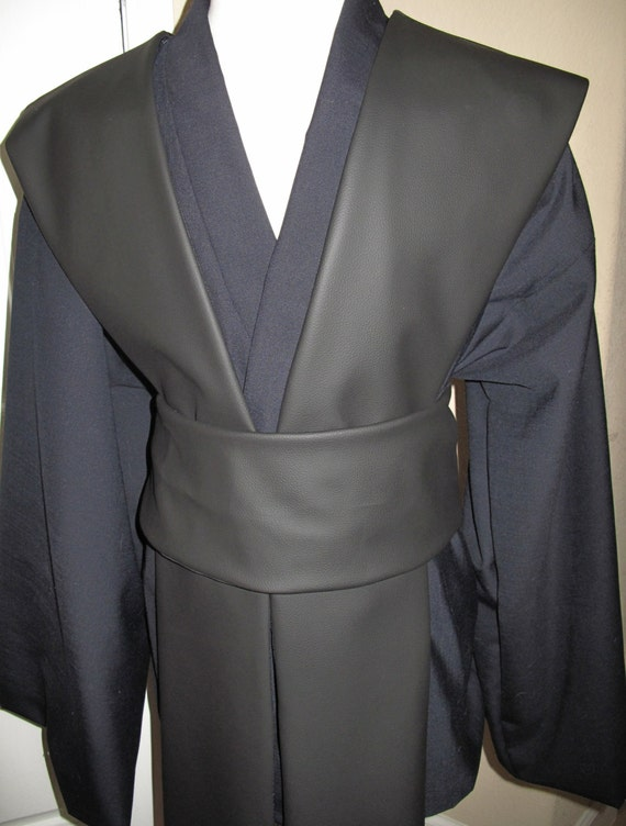 Star Wars Midnight blue Tunic and Black Pleather Tabards  with sash 4 piece costume