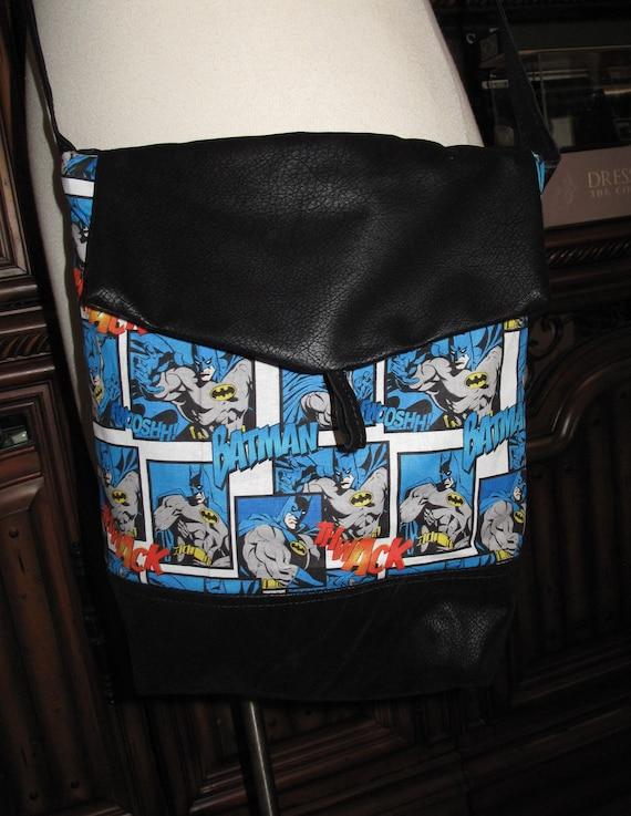 Batman print unisex shoulder bag or crossbody bag size 14x11x3