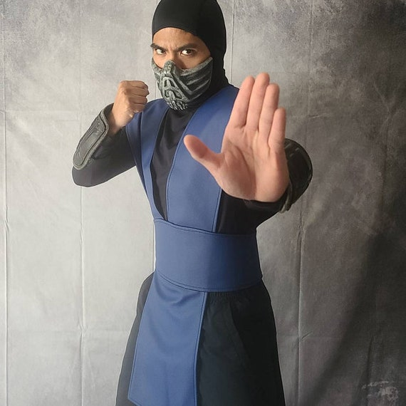 Sub Zero Smoke Scorpion Ermac and Reptile Mortal Kombat Pleather tabard vest and sash in several sizes