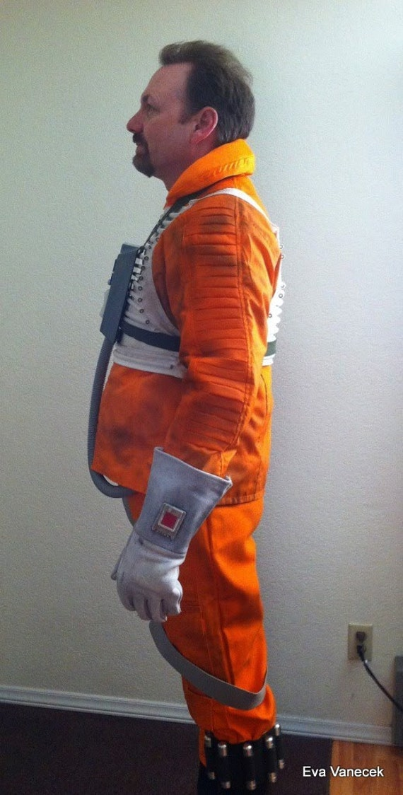 Star Wars Hoth Rebel Pilot orange X-wing Jacket in several sizes