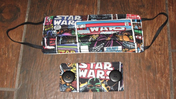 Star Wars Comic Book Covers Washable & Reusable 3 layer cotton Face Mask with non woven interfacing in 4 sizes