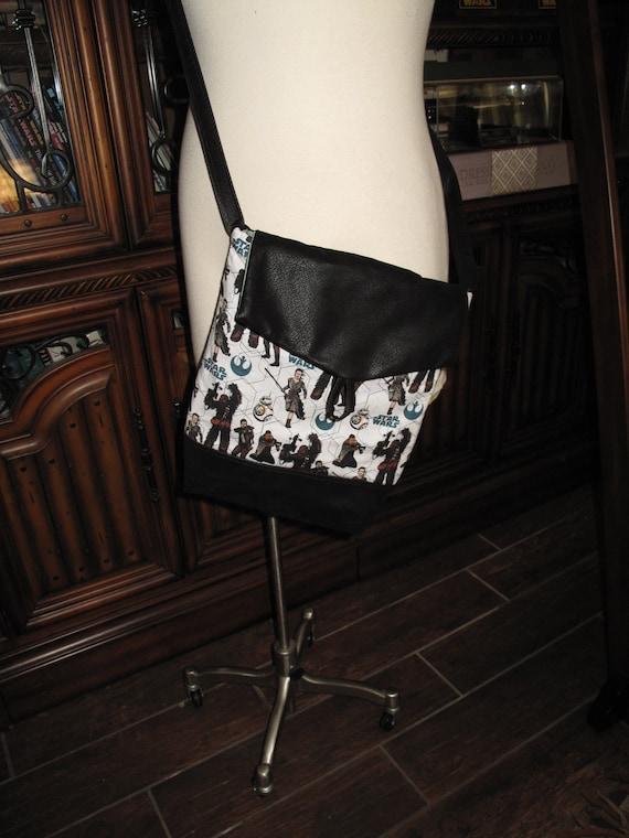 SW Ray Finn Chewbacca print unisex shoulder bag or crossbody bag size 14x11x3