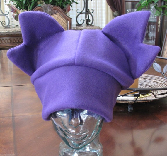 Cosplay Sableye winter fleece ear hat in 6 sizes