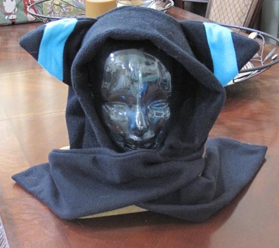 Cosplay Shiny Umbreon  fleece scarf hoodie ear hat