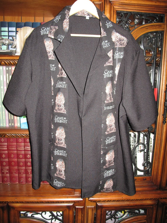Game of Thrones Throne print Men's bowling shirt in 10 sizes