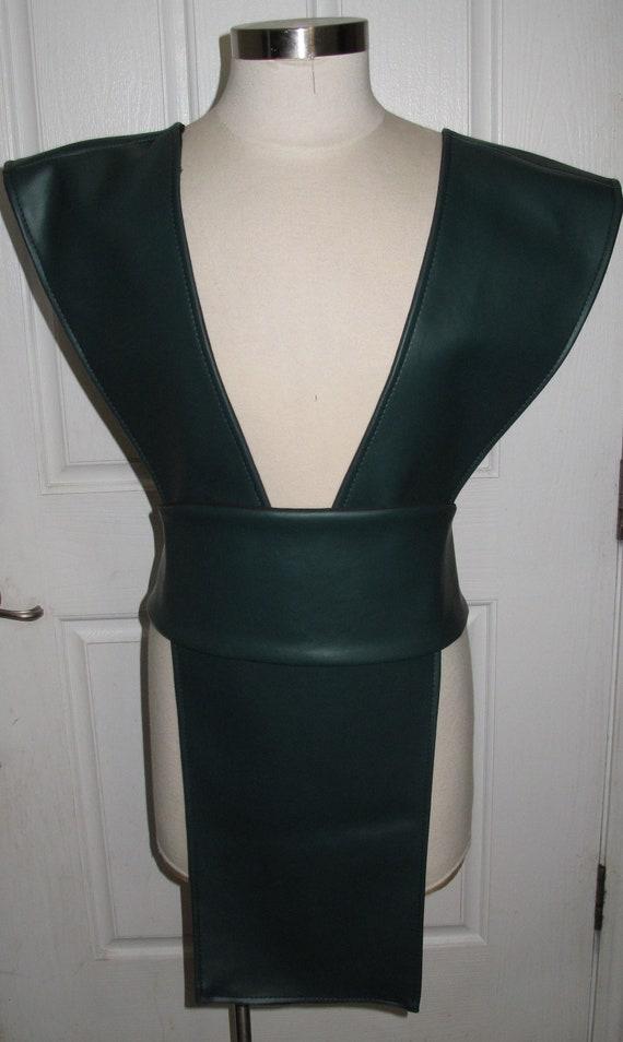 Mortal Kombat Reptile Green Ninja Pleather Tabard Vest and Sash in several sizes