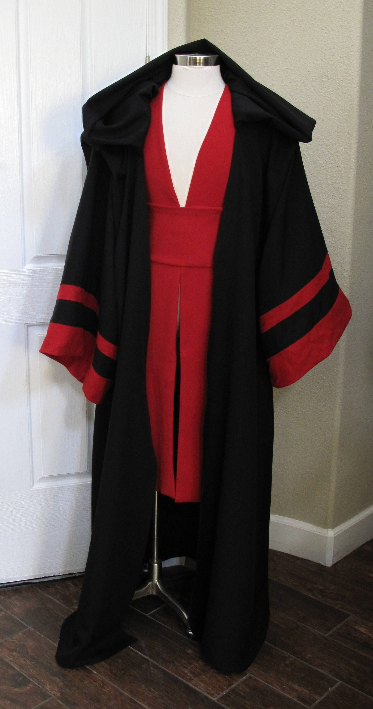 98064da83a Sith Acolyte costume robe with red tabards and a sash