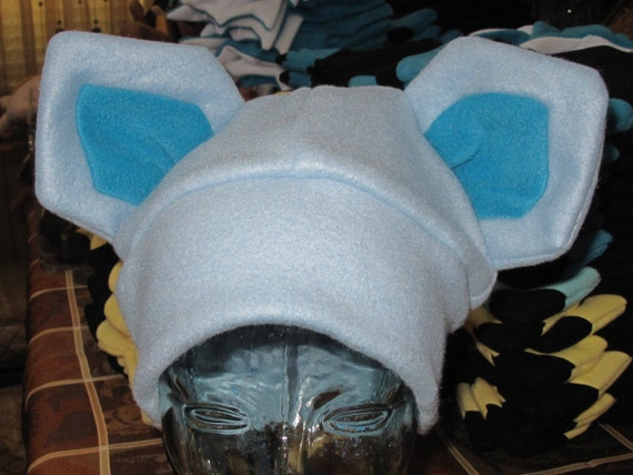 Cosplay Glaceon fleece ear hat in 6 sizes