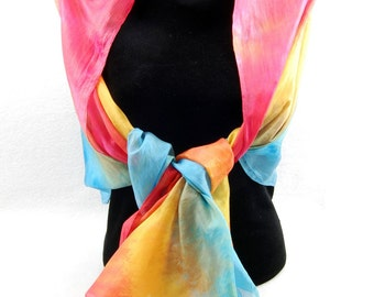 The Colors of FALL...Hand Dyed Silk Habotai Scarf, choose your palette