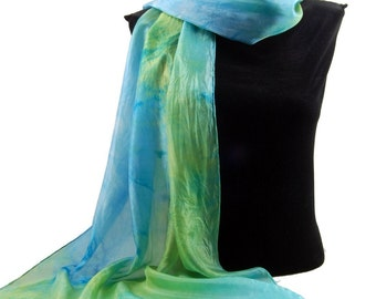The Colors of SPRING...Hand Dyed Silk Habotai Scarf, choose your palette