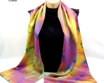 The Colors of SUMMER...Hand Dyed Silk Charmeuse Scarf, choose your palette