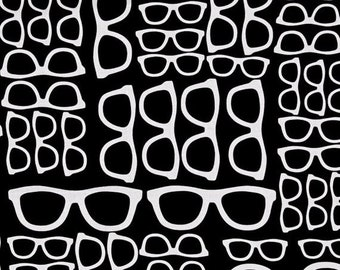 3266749280 ON SALE Spectacles Fabric. Glasses Fabric. Geekery. Fabric BTY 100% Cotton.  Rjr Style  2868-004. Retro Glasses. Geeky Glasses. Destash.