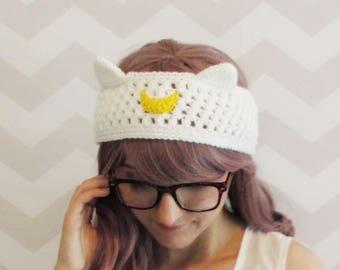 sailor moon headband, cat ears headband, luna, artemis, cat ears, winter headband, knit, crochet, moon cat, ear warmer, costume, cosplay