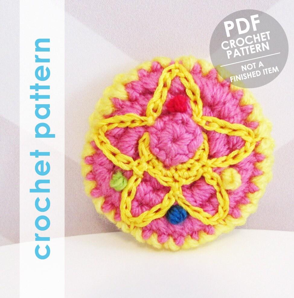 Sailor Moon Crochet Pattern Sailor Moon Inspired Brooch Pin Etsy