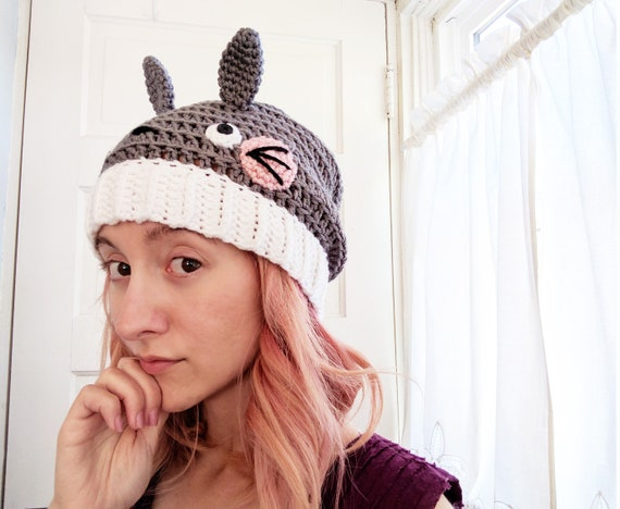 Totoro Crochet Pattern Totoro Hat Crochet Slouchy Hat Slouchy Hat