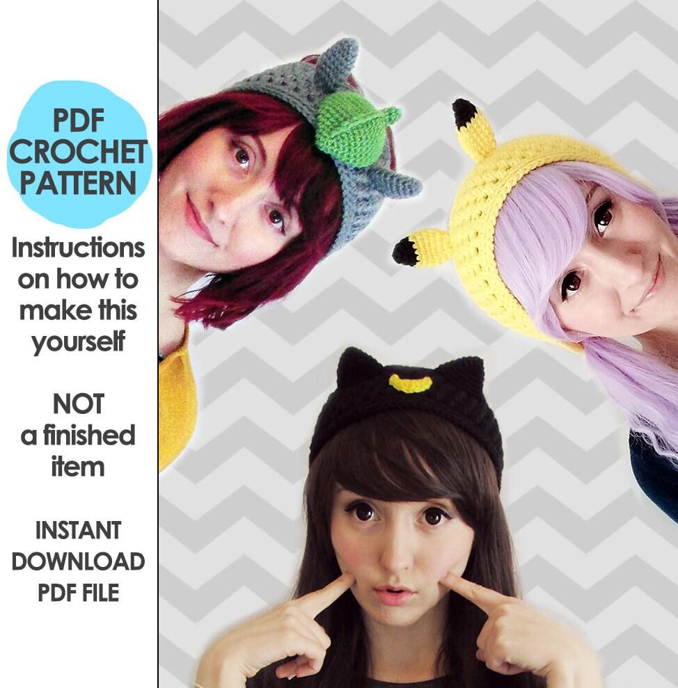 crochet headband pattern 3 headband pattern pack sailor moon | Etsy