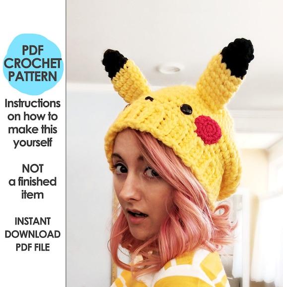 Crochet Pattern Pokemon Crochet Pattern Slouchy Hat Crochet Etsy