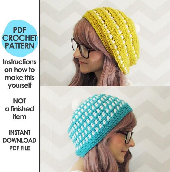 Crochet Pattern Crochet Hat Pattern For Women Crochet Hat Etsy