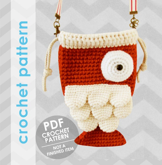 Crochet Bag Pattern Fish Bag Crochet Bag Pattern Crochet Etsy